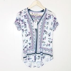 Lucky Brand Floral Printed Tee NWT